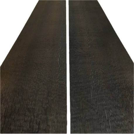 Fumed Charcoal black Oak Veneer 260 x 24 cm