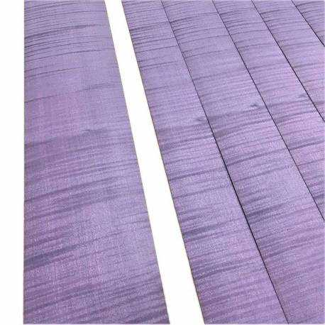 Pale Orchid Violet Fiddled Sycamore Veneer 50 x 10 cm