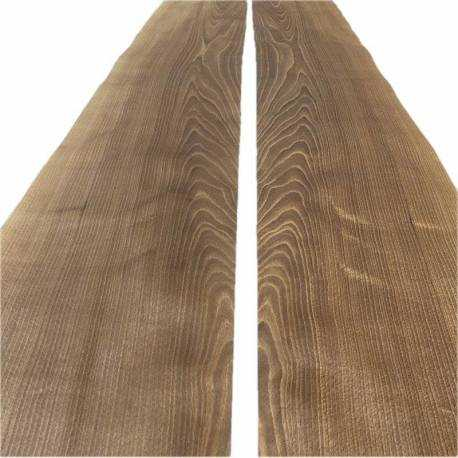 Fumed Half-crown Beech veneers 255 x 32 cm