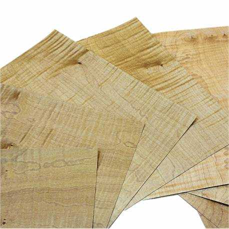 Fumed figured Sycamore small size veneer