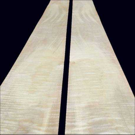 Discolored Fiddled Sycamore veneer 140 x 12 cm