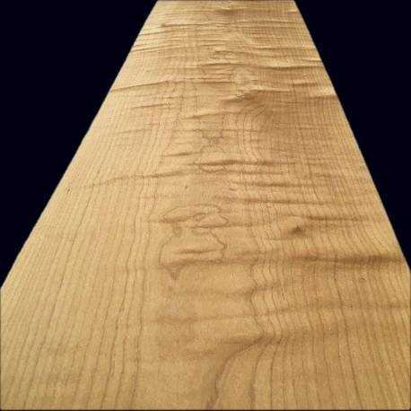 Fumed fiddled Sycamore veneer 340 x 29 cm